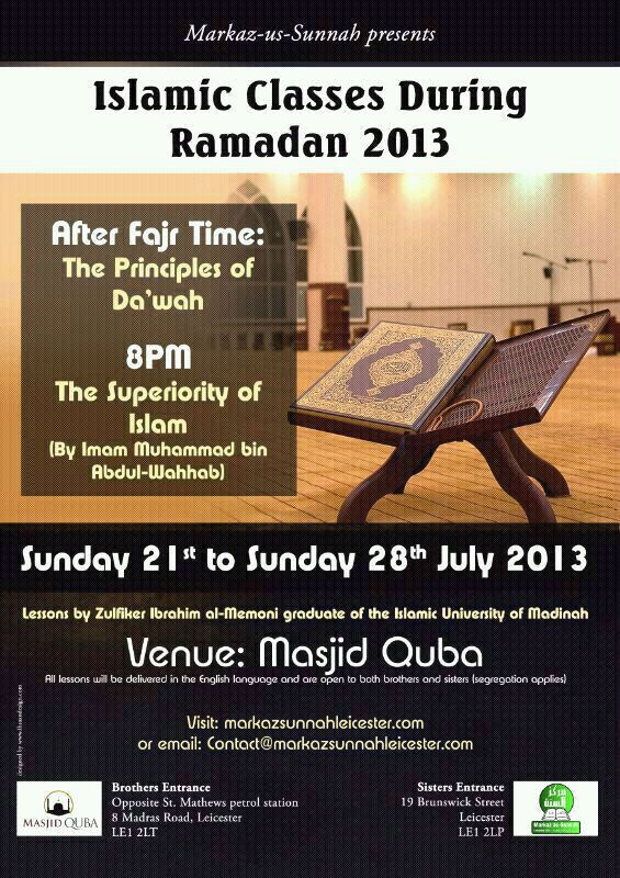 Ramadhan classes 2013