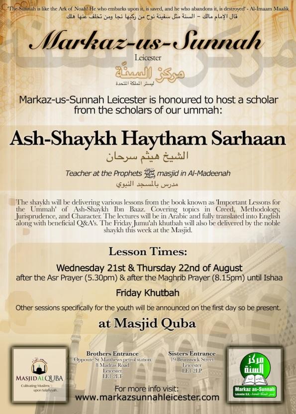 Shaykh Haytham Sarhaan Poster (Small)